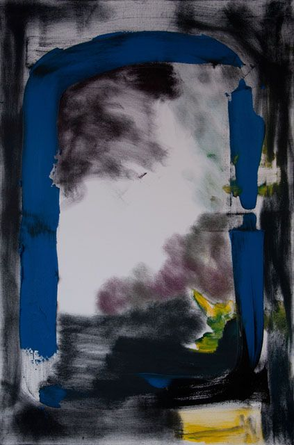Stella Corkery: Untitled 95; oil on readymade canvas and stretcher, 610mm x 910mm