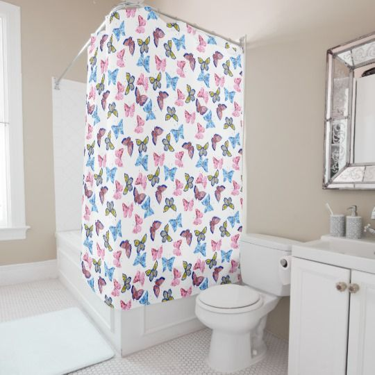 1483 best bathroom decor images on pinterest shower for Pink and blue bathroom ideas