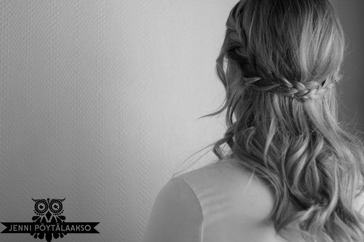 Half up-hairstyle with braids by Emmi/Parturi-kampaamo Salon Maria Seinäjoki