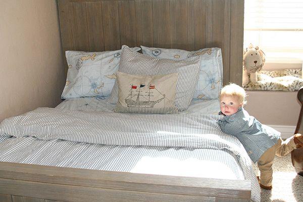 restoration hardware kids, kids bedding, boys room, boys bedding, nautical bedding