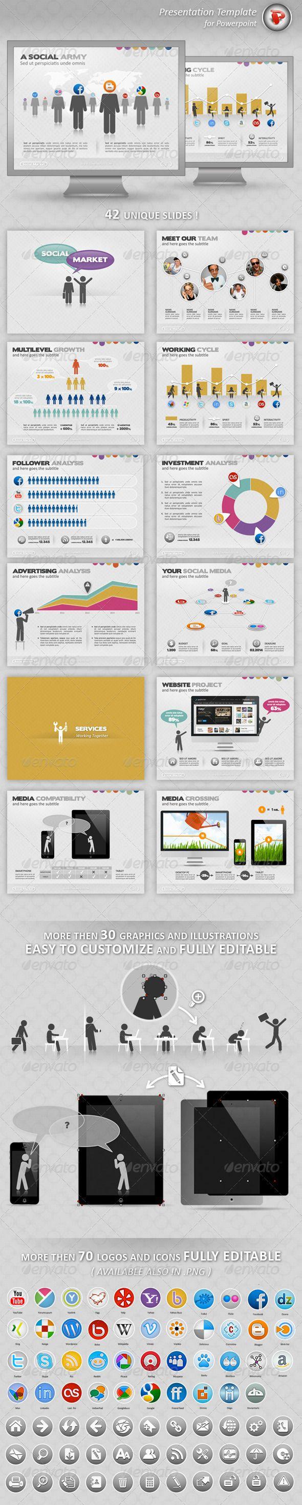 Social Market Powerpoint Presentation - Powerpoint Templates Presentation Templates
