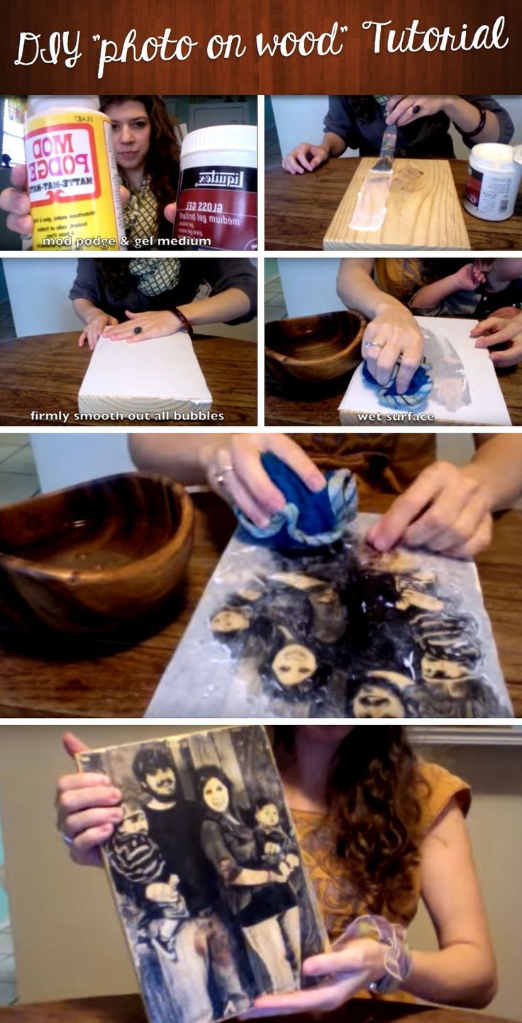 Give your photographs a rustic touch with this exquisite DIY wood picture