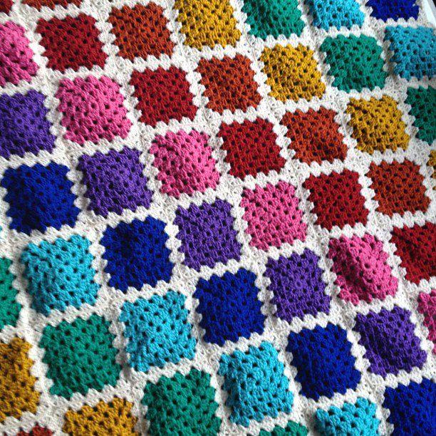 Knitting Granny Square Blanket : Best granny square images on pinterest knit crochet