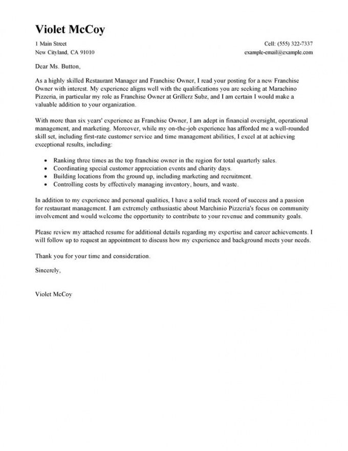 Browse Our Example Of Franchise Inquiry Letter Template For Free Letter Example Speech And Language Sample Resume