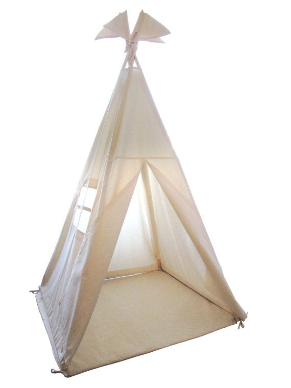 Play tent teepee  Plain cotton indoor play teepee by moozlehome, $188.00