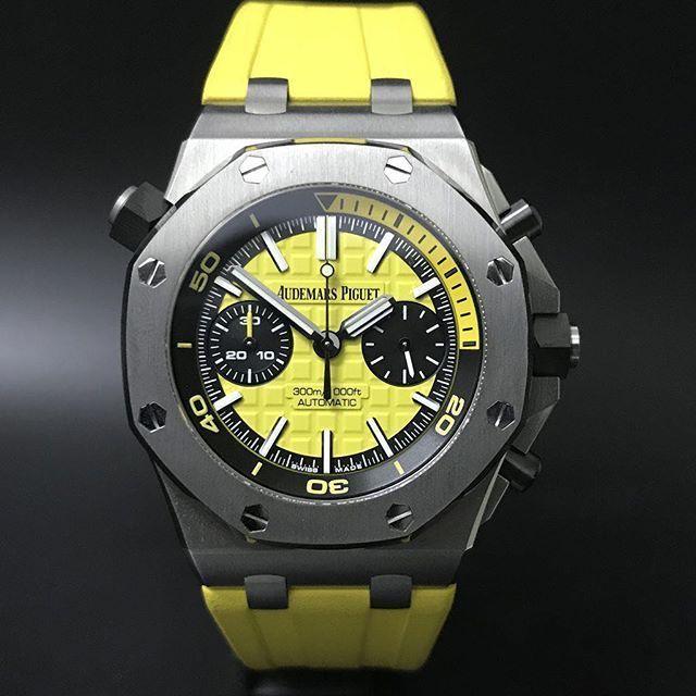 Audemars Piguet Royal Oak Offshore Yellow Diver Chronograph (2017) WA : 628121067189 : 021-7209021 https://mulialegacy.com