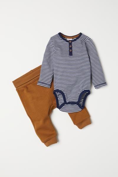 e613ac8d4 H M Bodysuit and Pants - Beige