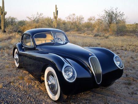 Jag in the Desert - coupe, fixed head, jaguar xk120, 1953