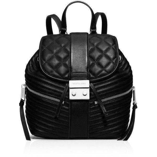 Michael Michael Kors Small Elisa Backpack ($224) ❤ liked on Polyvore featuring bags, backpacks, black, black zipper bag, michael michael kors, backpacks bags, rucksack bag and black rucksack