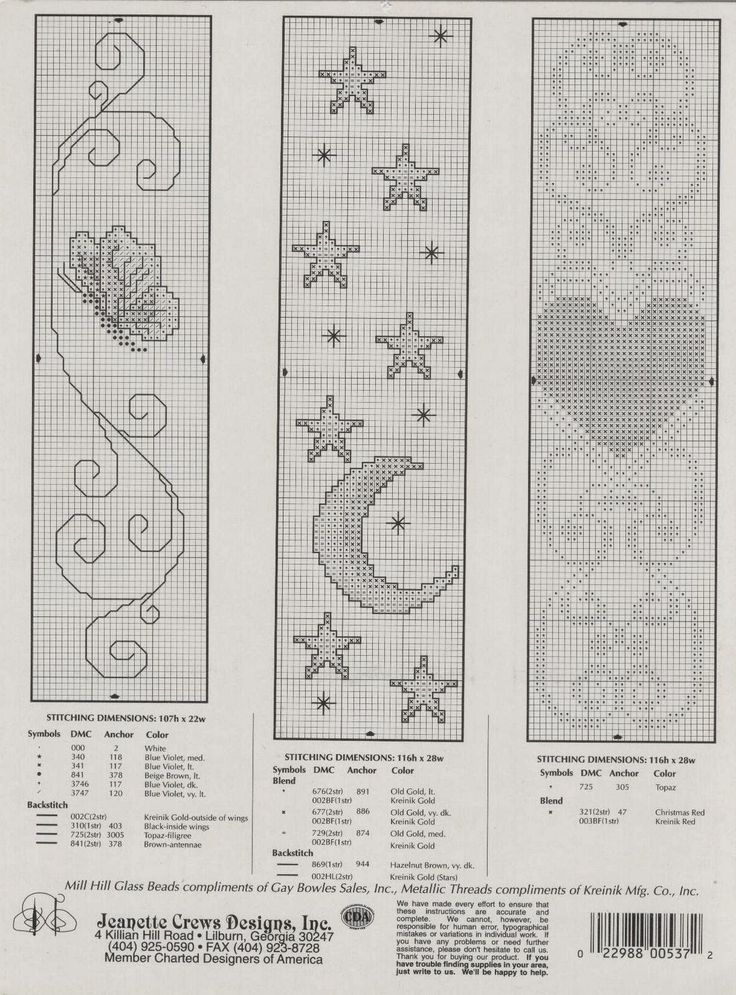 This is an image of Satisfactory Free Printable Counted Cross Stitch Bookmark Patterns