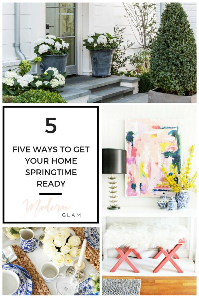 5 ways to get your home Springtime ready! Tips and tricks on how to get your house ready for Spring