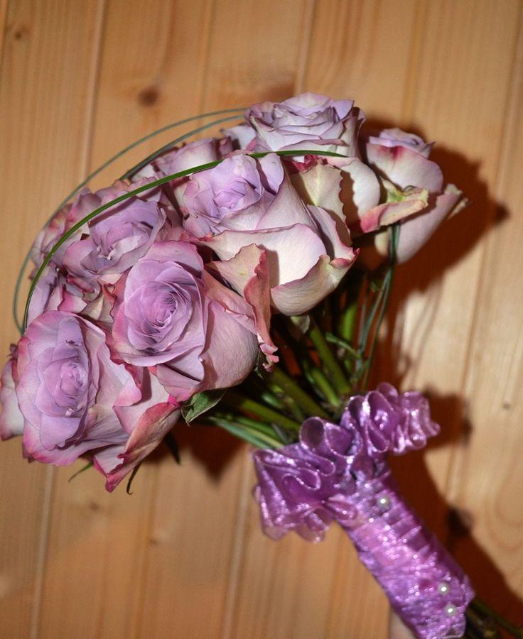 Buchet realizat cu trandafiri Memory Lane