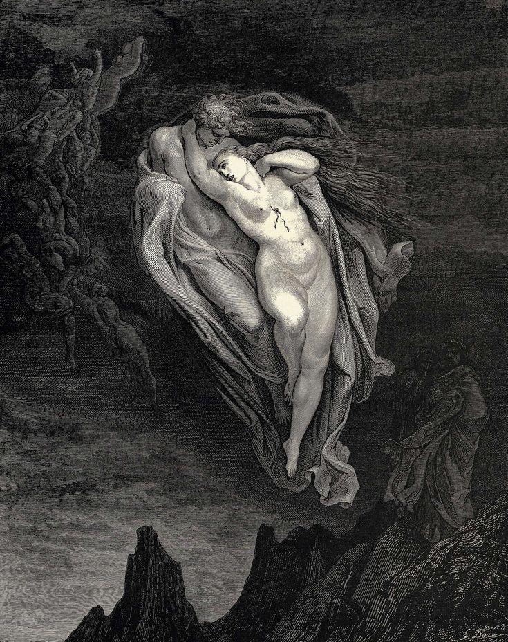 """Gustave Doré, etching for the 1857 edition of Dante Alighieri's """"Divina Commedia"""" (1304-1321)."""