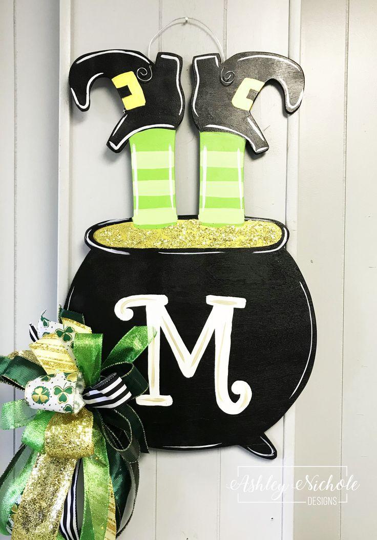 Leprechaun Pot of Gold Door Hanger