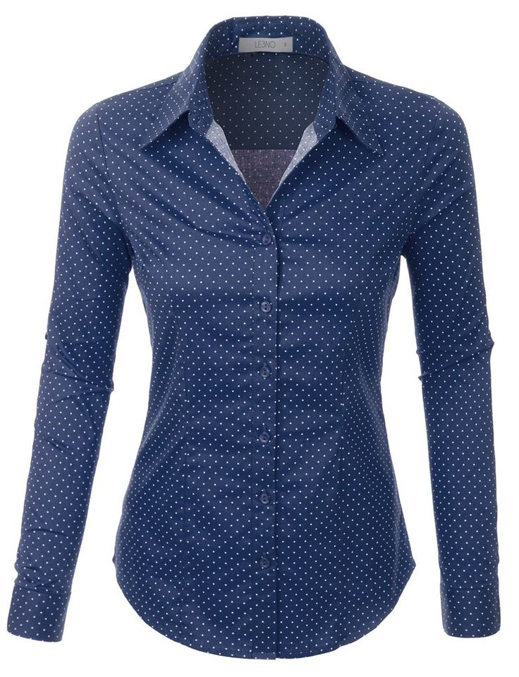 Whatever the occasion is, this polka dots button down long sleeve tailored shirt will be a perfect fit. This comfortable wash-and-wear shirt is indispensable for the workday. Feature - 97% Cotton / 3%