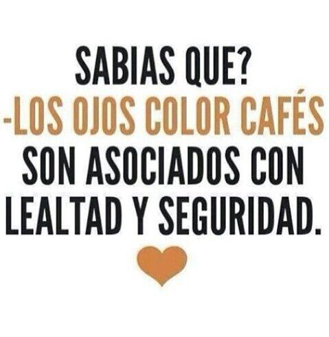 Ojos color cafe