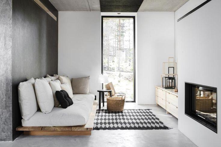 Increíble estilo escandinavo con concreto, madera y mucho blanco y negro