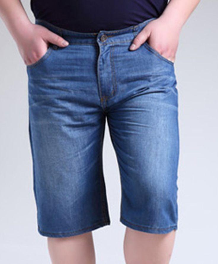 Big Size Men's Jeans Shorts L-11XL.  Casual Cotton Man's Loose Knee Length Jeans.  jeans para hombres, pantalones cortos #Affiliate
