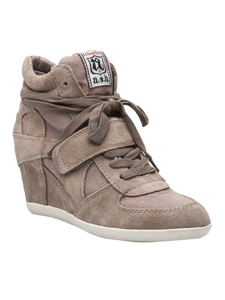 I tried these on with jeans it they were so stinkin cute!  ASH Bowie wedge sneaker booties