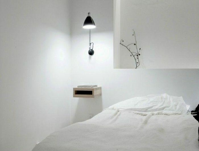 table-de-nuit-suspendue-intérieur-minimaliste-petit-chevet-suspendu