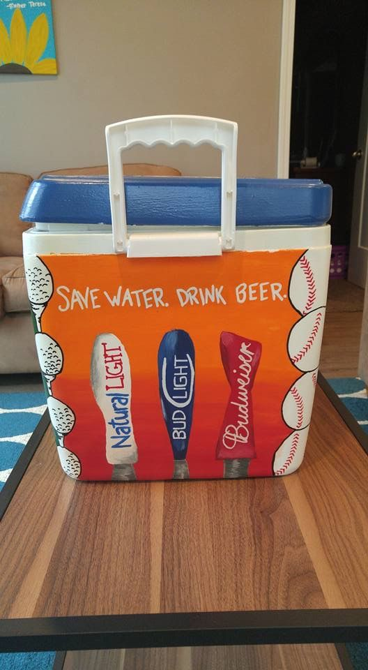 Diy Painted Cooler : Ideas about cooler painting on pinterest coolers