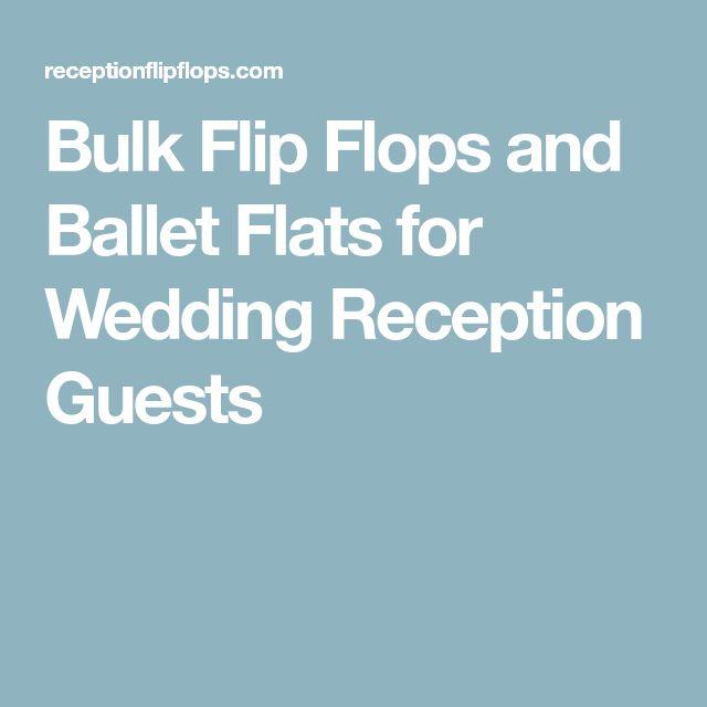 Bulk Flip Flops and Ballet Flats for Wedding Reception Guests