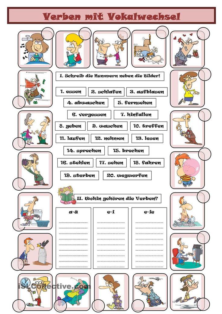 Niedlich Verb Vokabular Arbeitsblatt Fotos - Super Lehrer ...