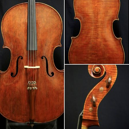 A spectacular 1969 Montagnana-model cello crafted by violinmaker Max Frirsz is available for examination and trial. Possess a warm, powerful tone.  #cello #cellist #Montagnana #violinmaker #luthier #MaxFrirsz