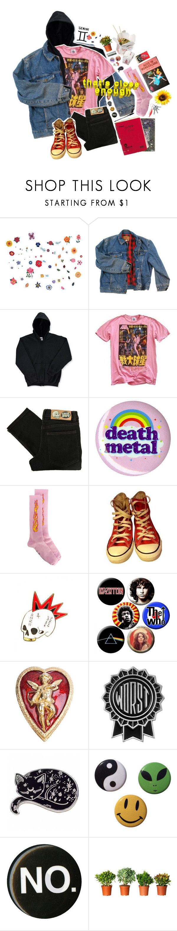 """""""GEMINI; Ascendant: Capricon / Sun sign: Cancer / Moon sign: Libra"""" by silence-d ❤ liked on Polyvore featuring DOMESTIC, Wrangler, Junk Food Clothing, Cheap Monday, Hot Topic, Palm Angels, Converse, Hyein Seo, Susan Caplan Vintage and zodiac"""