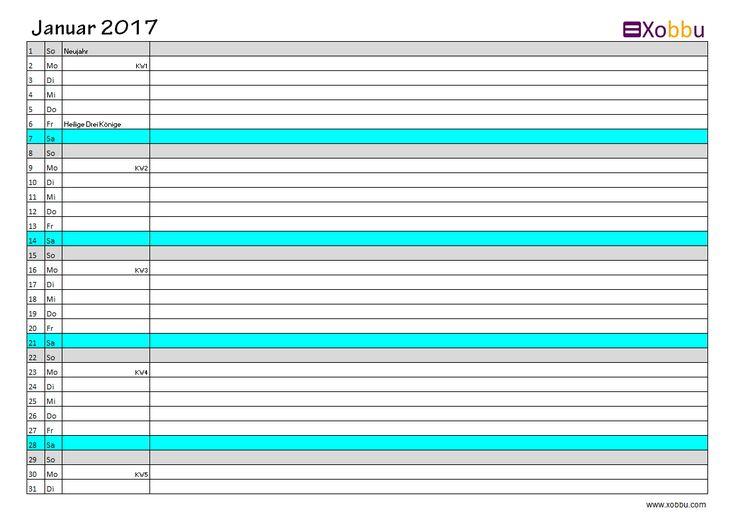 Diy Calendar Excel : Kalenderübersicht excel pdf vorlage xobbu printable