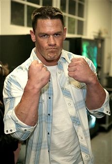 Pro-wrestler John Cena poses backstage at the Inagural 'Arby's Action Sports Awards' held at Center Staging Studios on November 30, 2006 in Burbank, California.