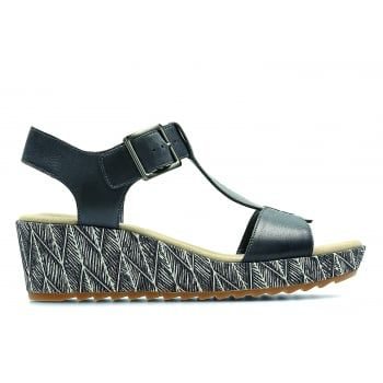 Offering everyday style and comfort, the Clarks Women's Kamara Kiki Sandals boast a luxurious cushioned footbed and chic t-bar strap design with wedge heel. An elegant buckle fastening and full leather uppers provide a charming finish to a lightweight, casual sandal. http://www.marshallshoes.co.uk/womens-c2/clarks-womens-kamara-kiki-navy-leather-t-bar-sandals-p4586