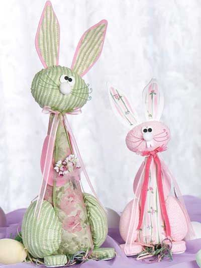 free pattern for this pair of whimsical bunnies!