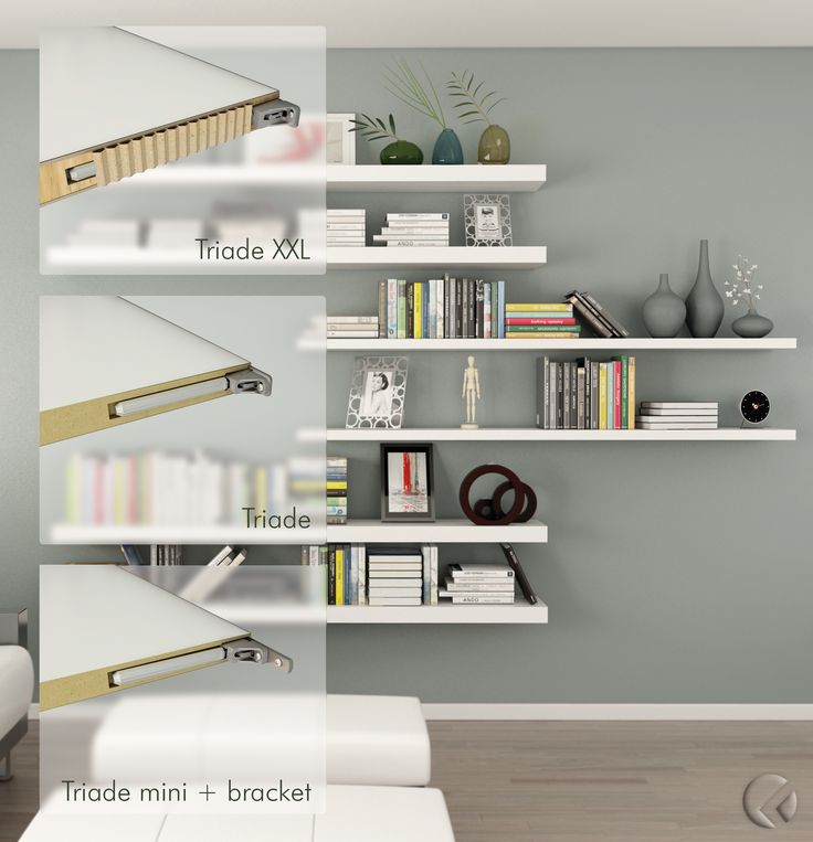 #TRIADE_SYSTEM - Invisible strength. TRIADE is the #ConcealedMountingBracket for shelves. It has beenconceived to #Simplify the #ShelfInstallation. It is provided with threeindipendent #Adjustments: vertical, horizontal and inclination adjustment.