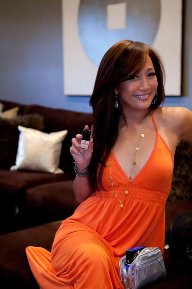 Dancing With The Stars Carrie Ann Inaba with Gabriel Nail Polish at her Girl's Night Out!
