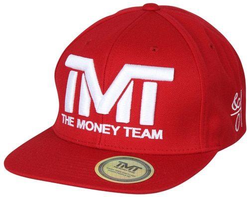 The Money Team TMT Floyd Mayweather Courtside Snapback Hat (Red/White)