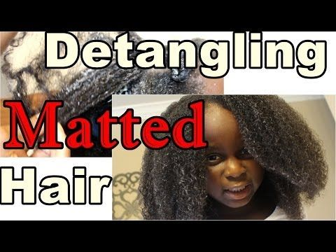 244 * How to detangle MATTED Natural Hair