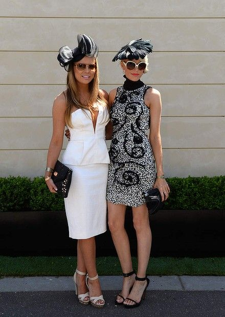 Mel Dry and Georgia Sinclair at the Victorian Derby Day at Flemington. 2nd November 2013