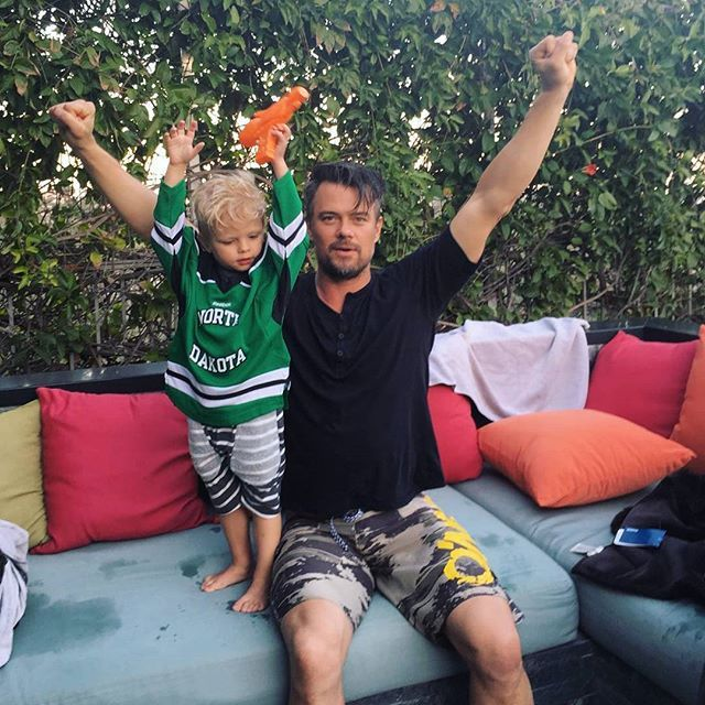 Pin for Later: The Cutest Snaps of the Cutest Celebrity Dads in Hollywood Josh Duhamel and Axl
