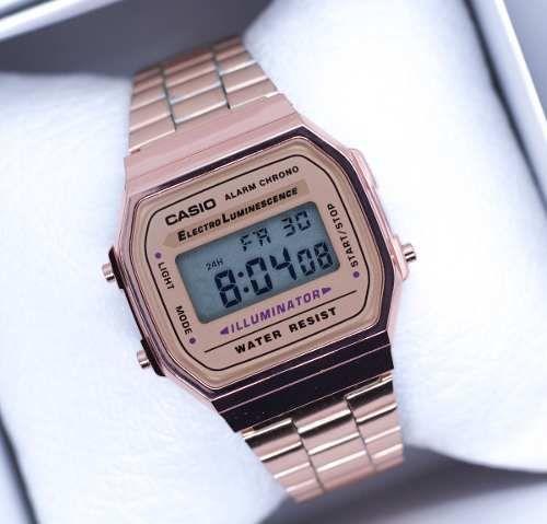 7dbc96372 Reloj Rosa A168 Retro Cobre Vintage Rose Gold Envío Gratis - $ 399.00 en Mercado  Libre