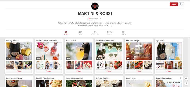 De pagina van Martini straalt vooral iets fris en zomers uit. Elk bord hecht belang aan een andere gelegenheid bv. 'Bubbly Brunch' of 'Aperitivo'. Er wordt dan aangegeven welke van hun producten best bij de gelegenheid passen. Je vindt er ook  verschillende combinaties met bv. eten en bepaalde recepten.