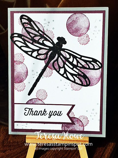 Dragonfly, Thank You, Circles, Eclectic Expressions, Stampin' Up!, SU!, 2018SAB