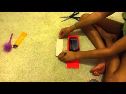 iphone duct tape flip case - YouTube