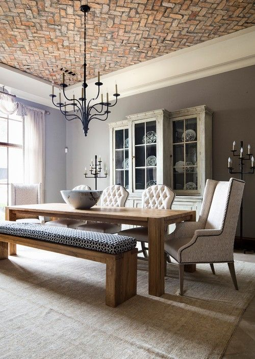 Dining rooms with benches