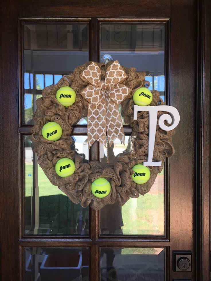A personal favorite from my Etsy shop https://www.etsy.com/listing/250926137/year-round-wreath-tennis-wreath-spring