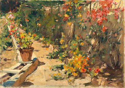 Primavera (1932). José Malhoa (1855-1933). Óleo sobre tela (24,5 x 33, 5 cm). Museu José Malhoa, Caldas da Rainha.