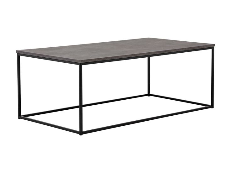 NOOMI Soffbord 120 Betong/Svart i gruppen Inomhus / Soffbord hos Furniturebox (110-89-128941)