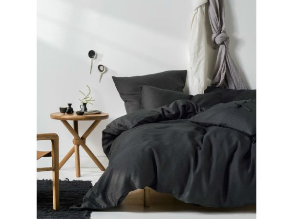 Linen House Nimes Charcoal Duvet Cover Set - <p>Is there any better feeling than slipping into a freshly made bed, as the laundered linen envelops you in a comforting hug? Good quality bedding helps make your bedroom the serene sanctuary it should be, so you can drift blissfully into dreamland for a good night's rest. The Linen House range is full of beautiful basics and delicate patterns to suit every sleeping space, sure to give you the sweetest of dreams.</p>