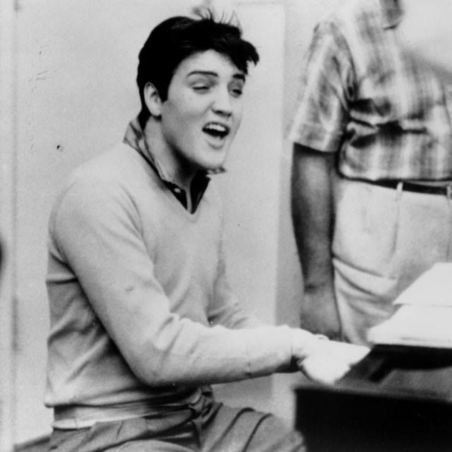 """Elvis Presley in the studio recording for """"King Creole"""" in 1958. Pinned from: https://www.facebook.com/elvis?fref=photo"""