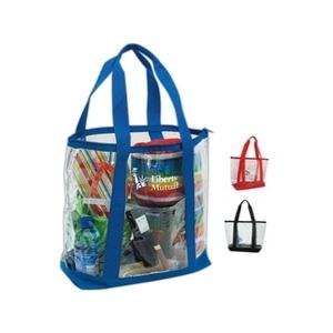 Transparent Zippered Tote Bag | Promotional Bag - Tote | T945-BIN